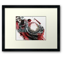 Red Grease Framed Print
