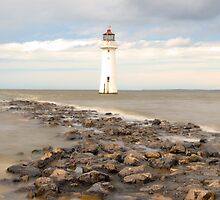 High Tide at Perch Rock by DavidWHughes