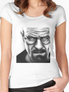 Walter White - Portrait Women's Fitted Scoop T-Shirt
