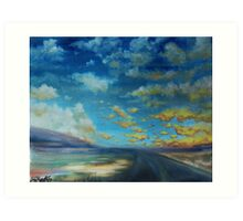 stormy midmorning, nebraska. Art Print