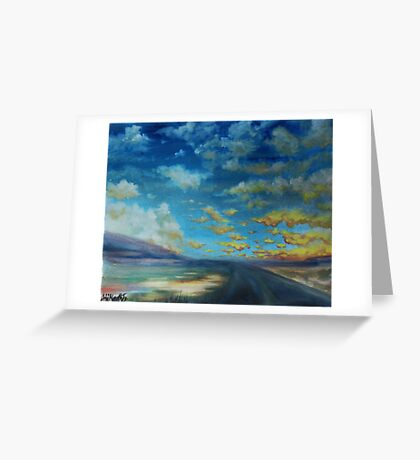 stormy midmorning, nebraska. Greeting Card