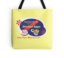 Yum Yum Deviled Eggs Tote Bag