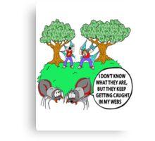 Spider Web Humor Canvas Print