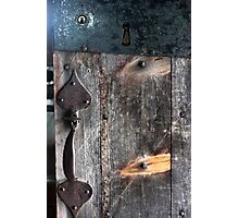 Door Latch and Keyhole Photographic Print