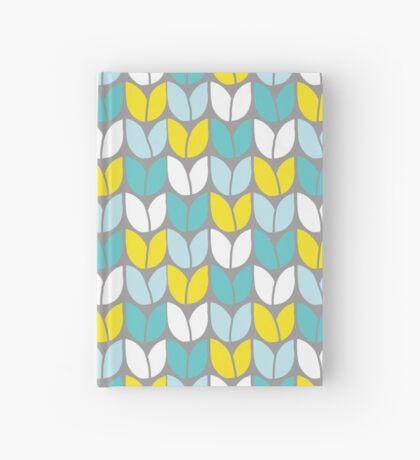 Tulip Knit (Aqua Gray Yellow) Hardcover Journal