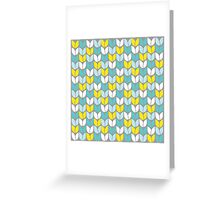 Tulip Knit (Aqua Gray Yellow) Greeting Card