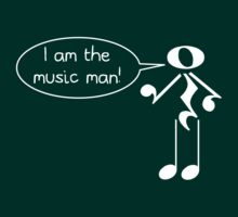The Music Man - Dark Tees by Hannah Sterry