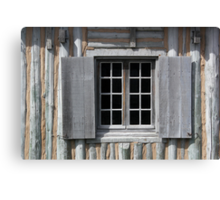 Gray Window Closeup Canvas Print