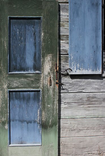Green Door Blue Window by marybedy
