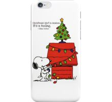 christmas snoopy lights tree iPhone Case/Skin