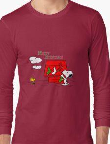 merry christmas snoopy Long Sleeve T-Shirt