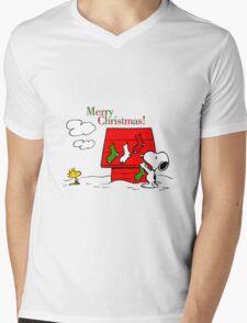 merry christmas snoopy Mens V-Neck T-Shirt