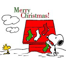 merry christmas snoopy by DinaPurifoy
