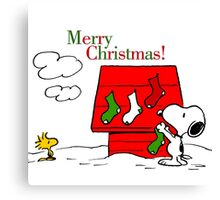 merry christmas snoopy Canvas Print
