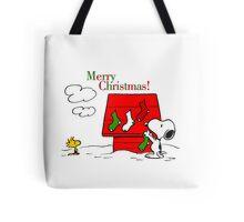 merry christmas snoopy Tote Bag