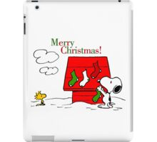 merry christmas snoopy iPad Case/Skin