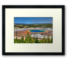 Grand Prismatic Spring, Yellowstone National Park Framed Print