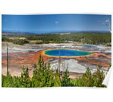 Grand Prismatic Spring, Yellowstone National Park Poster