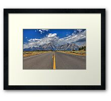 Road to Grand Teton National Park Framed Print