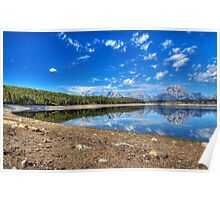 Teton Range Reflection Poster