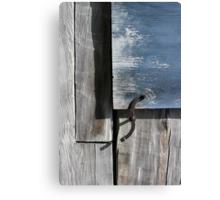Window Hardware Blue Canvas Print