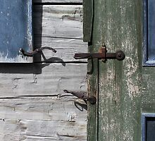 Window Hardware 3 Blue by marybedy