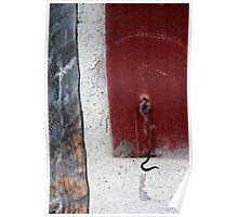 Window Hook Red Poster