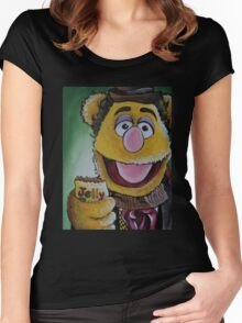 Fozzie, Fourth Doctor Women's Fitted Scoop T-Shirt