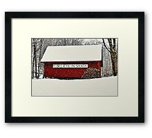 I Believe In Santa Framed Print
