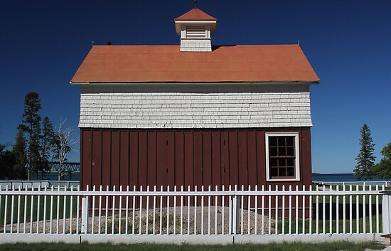 Old Mackinac Point Lighthouse Barn by marybedy