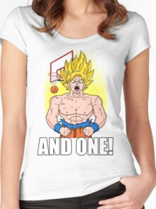 "Super Saiyan ""And One"" (Dark Colors) Women's Fitted Scoop T-Shirt"