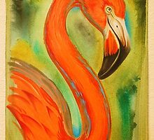 flamingo. by resonanteye