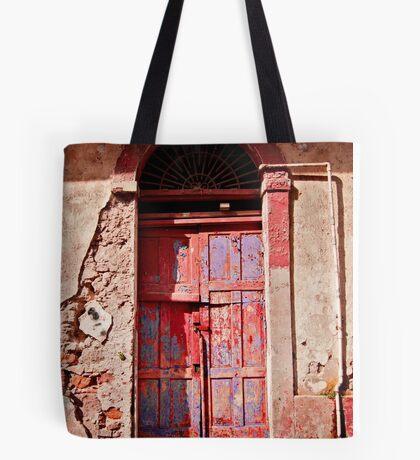 Old Red Door Tote Bag