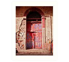 Old Red Door Art Print