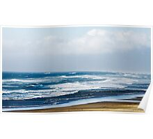 Rolling Waves On Sea Shore Poster