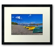 Signal Mountain Marina, Grand Teton National Park Framed Print