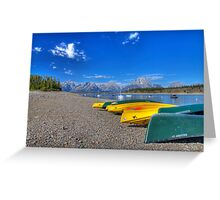 Signal Mountain Marina, Grand Teton National Park Greeting Card