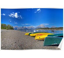 Signal Mountain Marina, Grand Teton National Park Poster