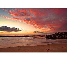 Firey Sunset Over Indian Ocean Photographic Print