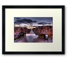 Low Tide at Iluka Beach Framed Print