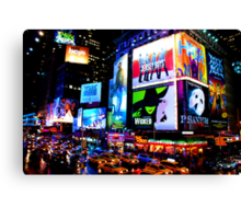 Times Square Broadway Canvas Print