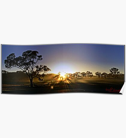 A cold spring sunrise Poster