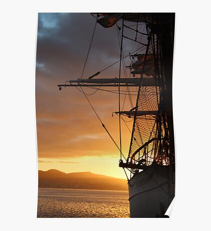 Tall Ships - Hobart - beautiful dawn light Poster