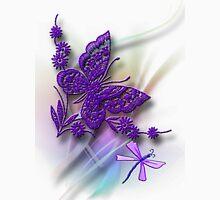 Purple Fantasy Butterfly Designer Art T-Shirt