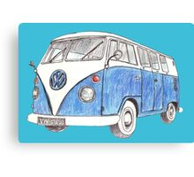 VW Van Split Screen 1966 Canvas Print