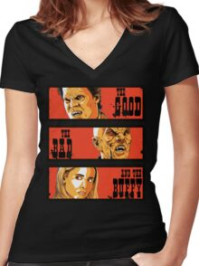 The Good The Bad and The Buffy Women's Fitted V-Neck T-Shirt