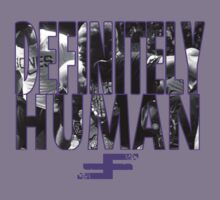 Bones Jones - Definitely Human - Purple by David Bankston