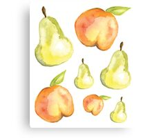 Peaches and Pears Canvas Print