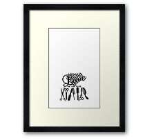 Love is in the Hair VRS2 Framed Print