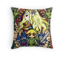 Stained Glass Legend Throw Pillow